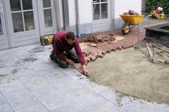 Aanleg bestrating natuursteen